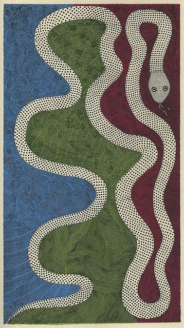 Waterlife snake (Tara books) by peacay, via Flickr