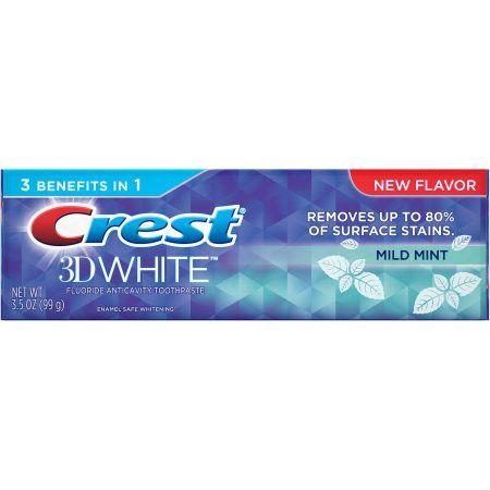 Crest 3D White Mild Mint Whitening Toothpaste, 3.5 oz