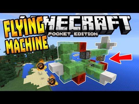FLYING MACHINE in MCPE!!! - 0 16 0 Slime Block Creation