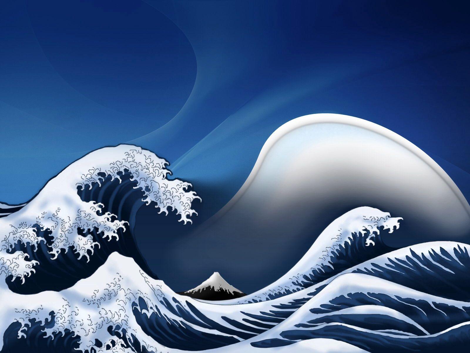 Fond D Ecran Ipad Vague Japonaise Fond D Ecran Apple Watch Paysage Magnifique Dessin