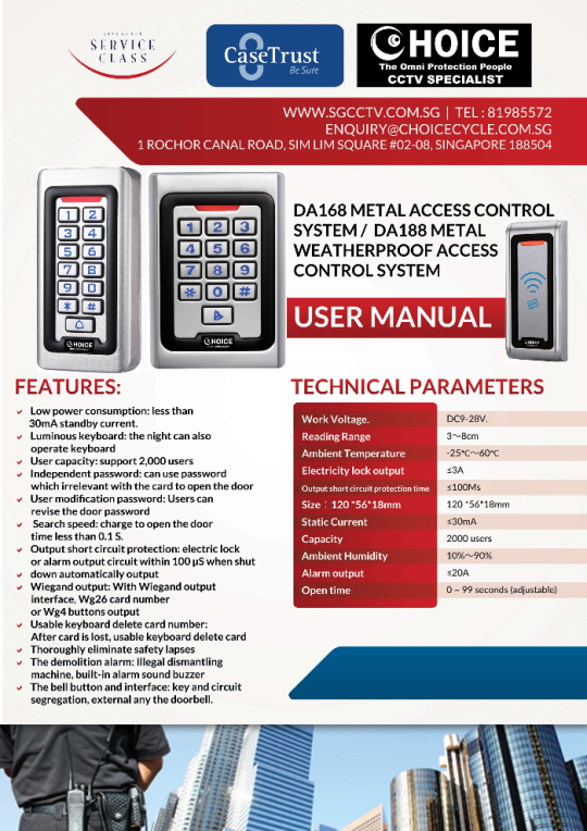 Choicecycle is High end Security Solutions Biometric Access security ...