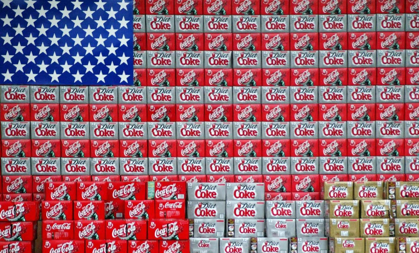 Flag out of coke boxes