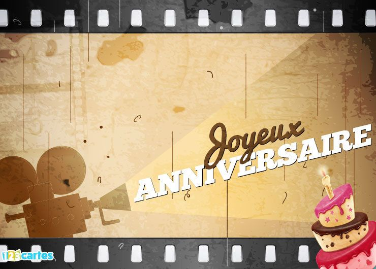 carte anniversaire cinéma gratuite