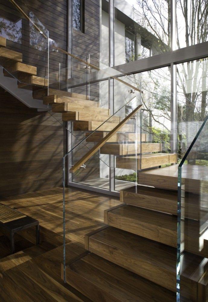 Brentwood residence belzberg architects escalera - Barandas de cristal ...