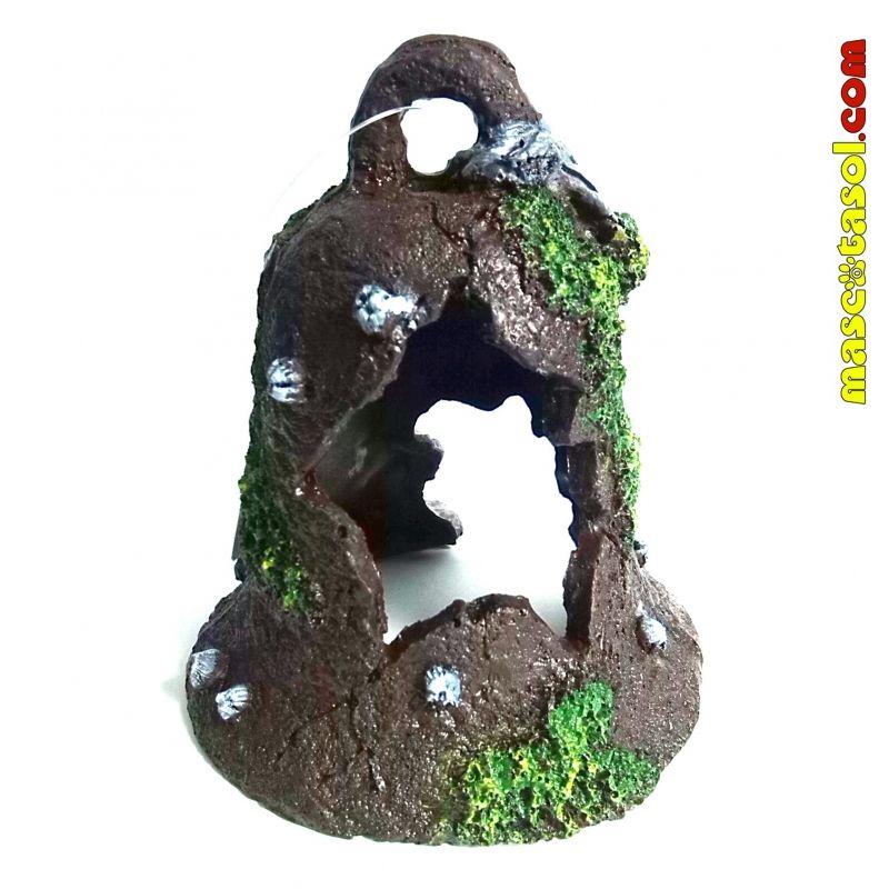 adorno acuario campana resina xx cm boyu