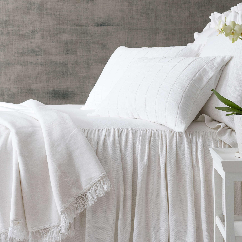 Wilton White Cotton Bedspread Pine Cone Hill Bed