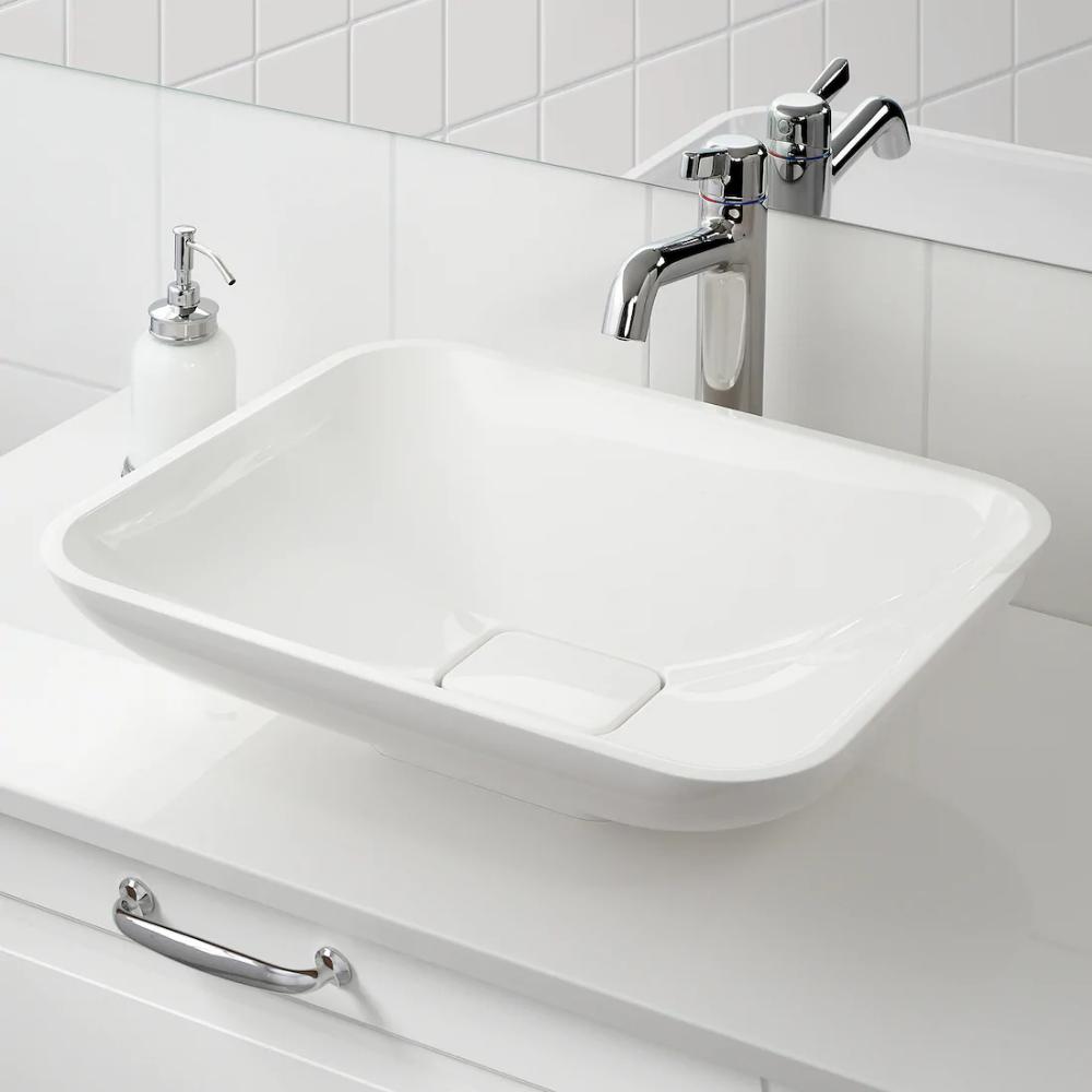 BORSTEN Aufsatzwaschbecken   weiß, Hochglanz   IKEA ...