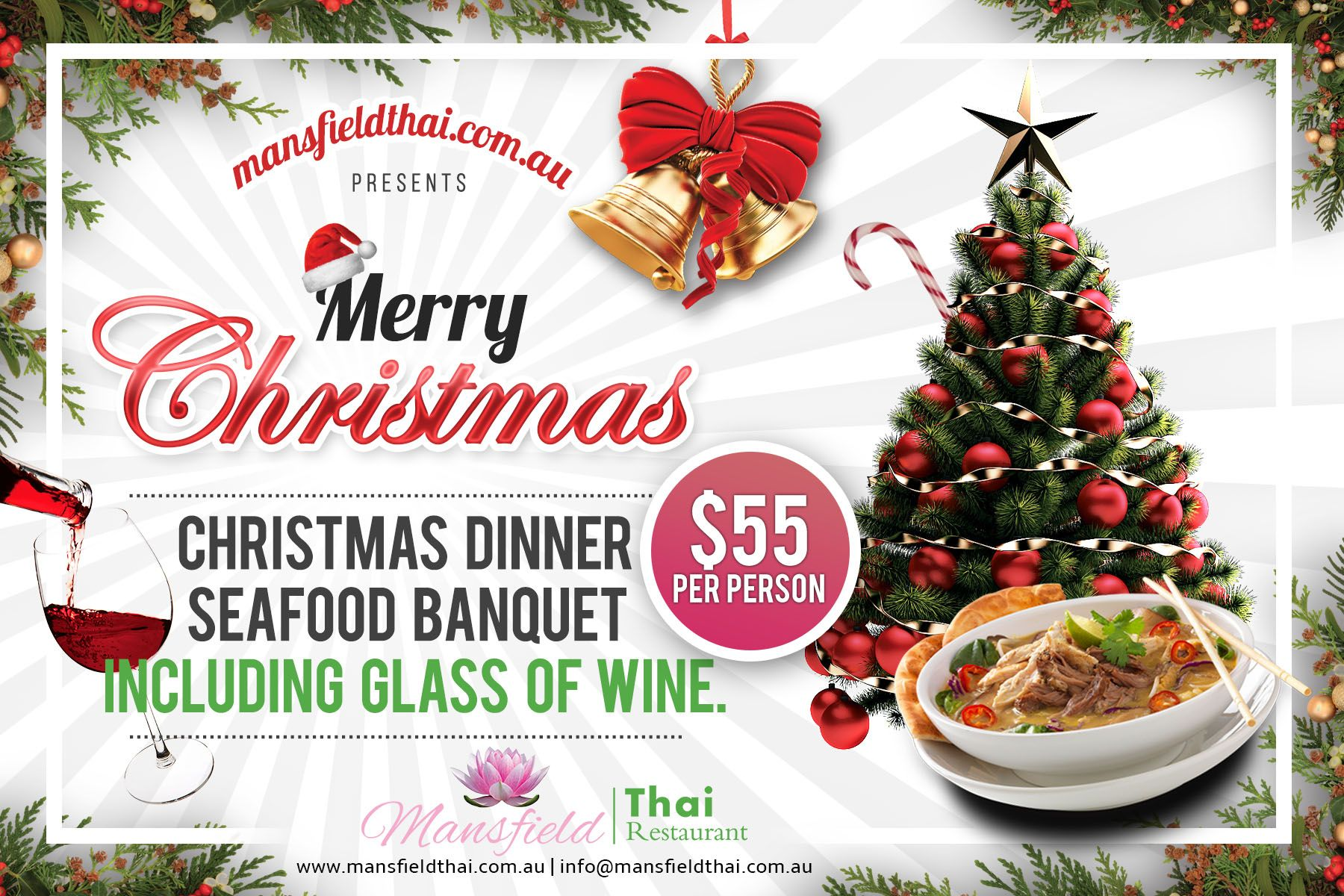 Special Christmas Offer Christmas Dinner Seafood Banquet