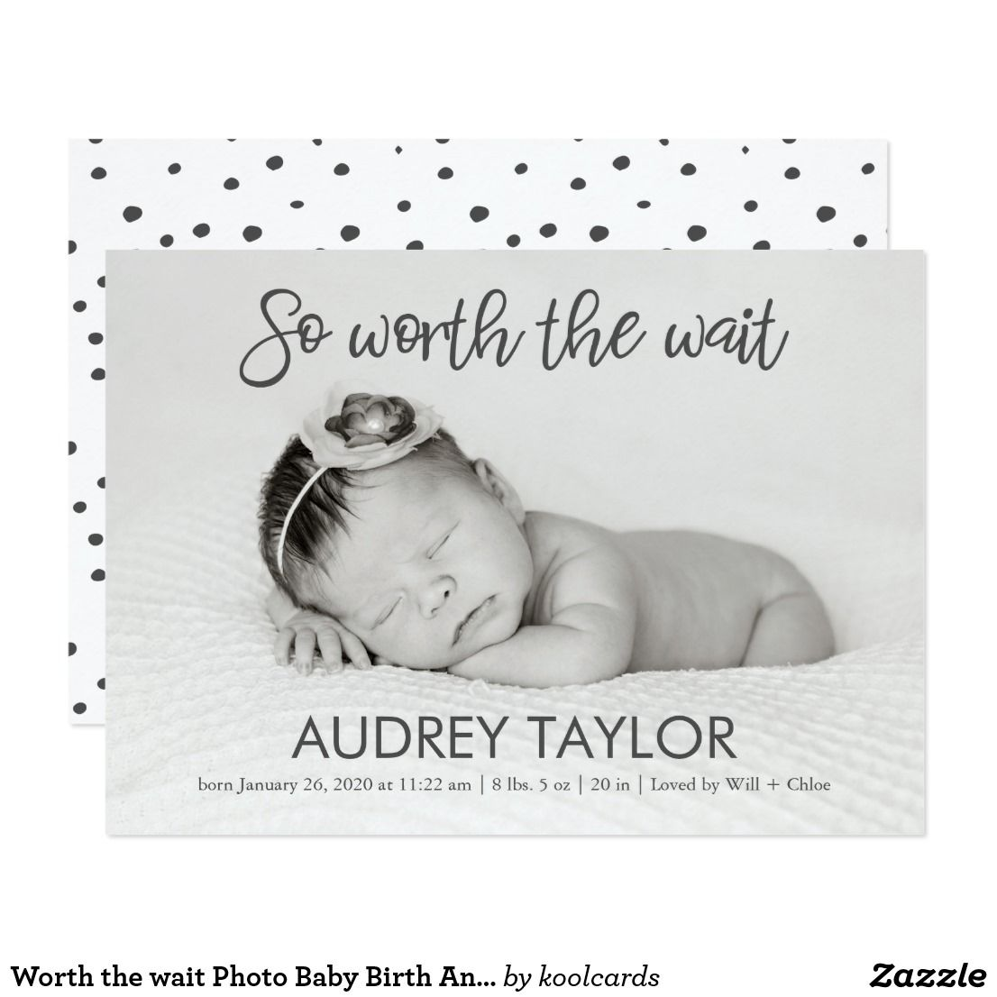 Printable by Vintage Sweet Birth Announcement Card  Magnet