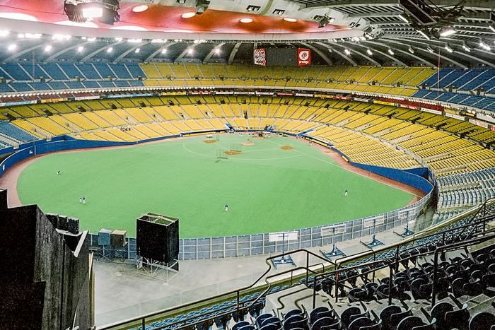 Montreal Expos With Images Mlb Stadiums Olympic Stadium Montreal City Postcard