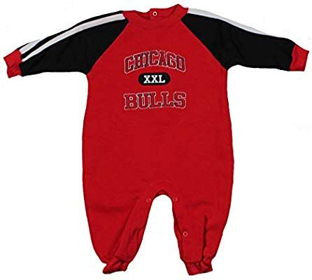 Amazon.com  Chicago Bulls NBA Baby Boys Infants Fleece Pajamas Coveralls 293ad4707bcd