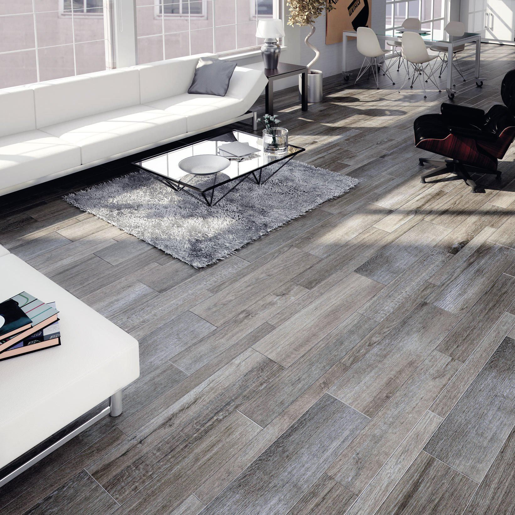 12 Rovere Gris Gray Wood Look Tile   Sample