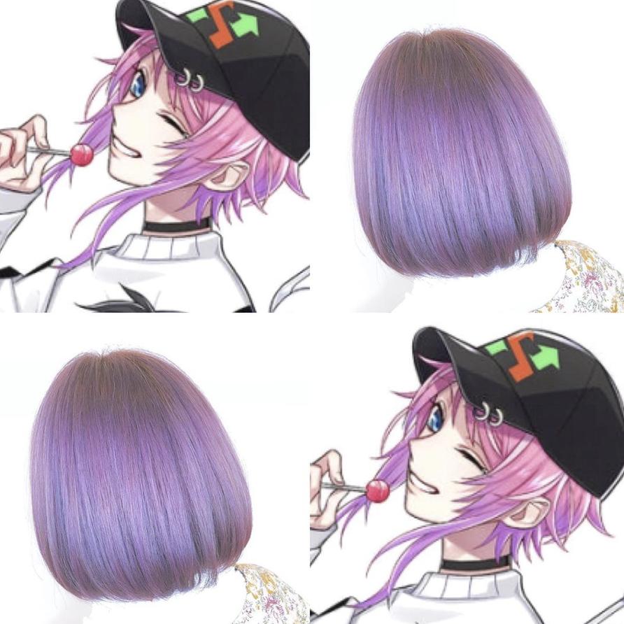 ボード 紫 ラベンダー系カラー Purple Hair Color 髪色 のピン