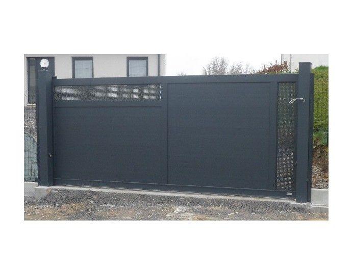 Portail Coulissant 3m 3 5m 4m 4 5m 5m En Tole Aluminium Perforee Leportailalu Portail Coulissant Portail Coulissant Electrique Portail