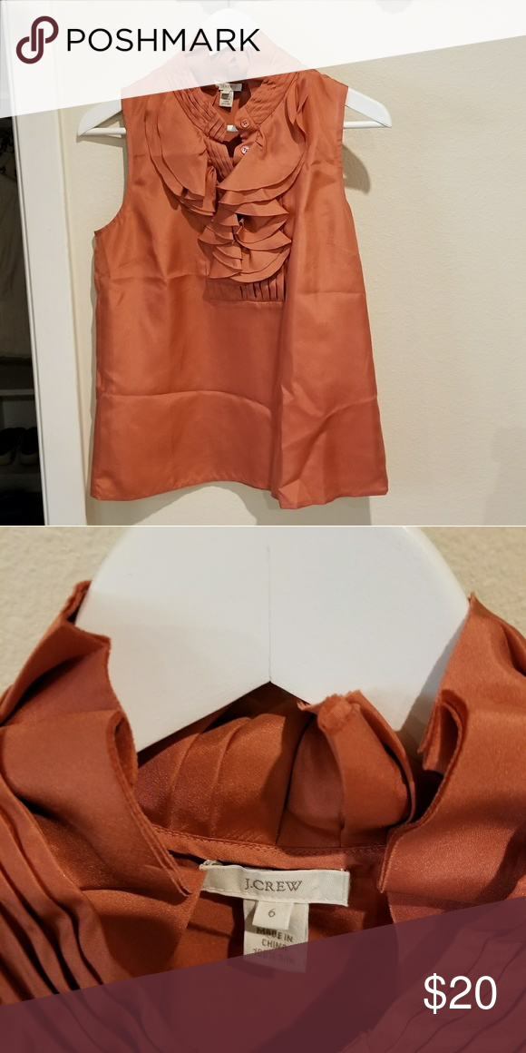 14241a7ee6b24 Jcrew ruffle blouse Jcrew ruffle blouse burnt orange J. Crew Tops ...