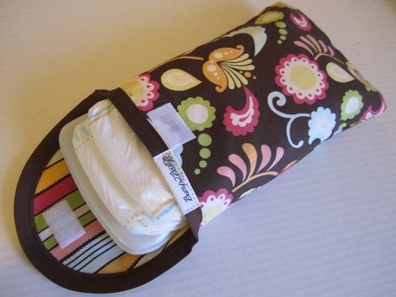 Brown and MultiColored Swirls and FlowersDiaper and by bump2baby, $14.99