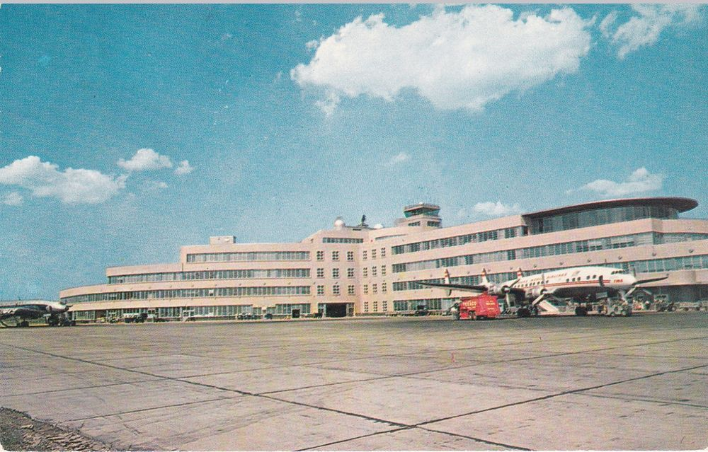 Old Pittsburgh Airport Pittsburgh International Airport Pittsburgh Postcard