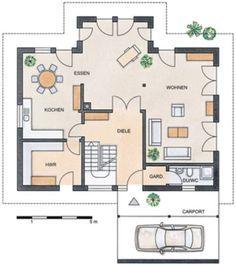 grundriss erdgeschoss stommel haus wildrose wohnzimmer. Black Bedroom Furniture Sets. Home Design Ideas