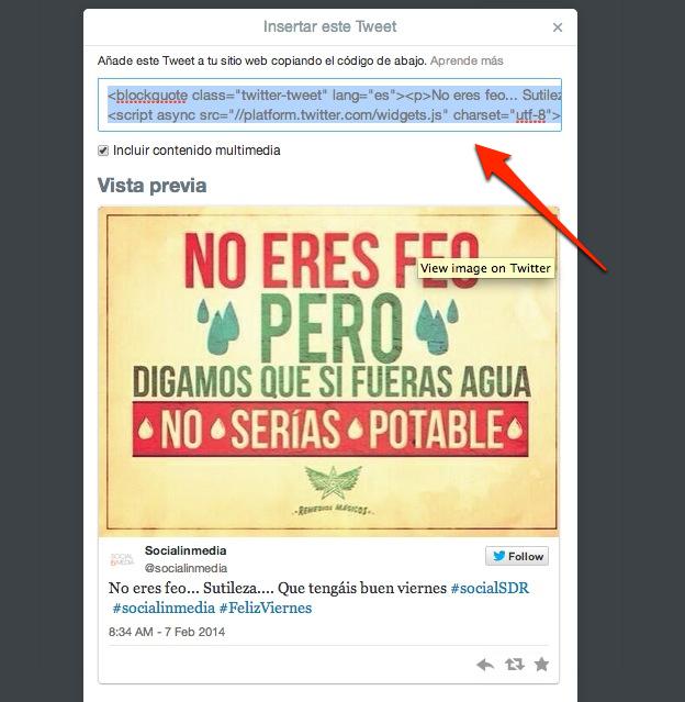 #Truco. Como centrar los tweets embeber tweets en un blog | Socialinmedia.com