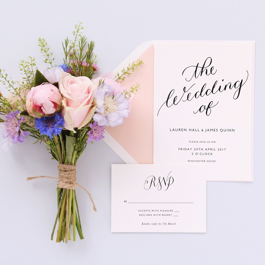Calligraphy Wedding Invitations & Menus By A L'aise On