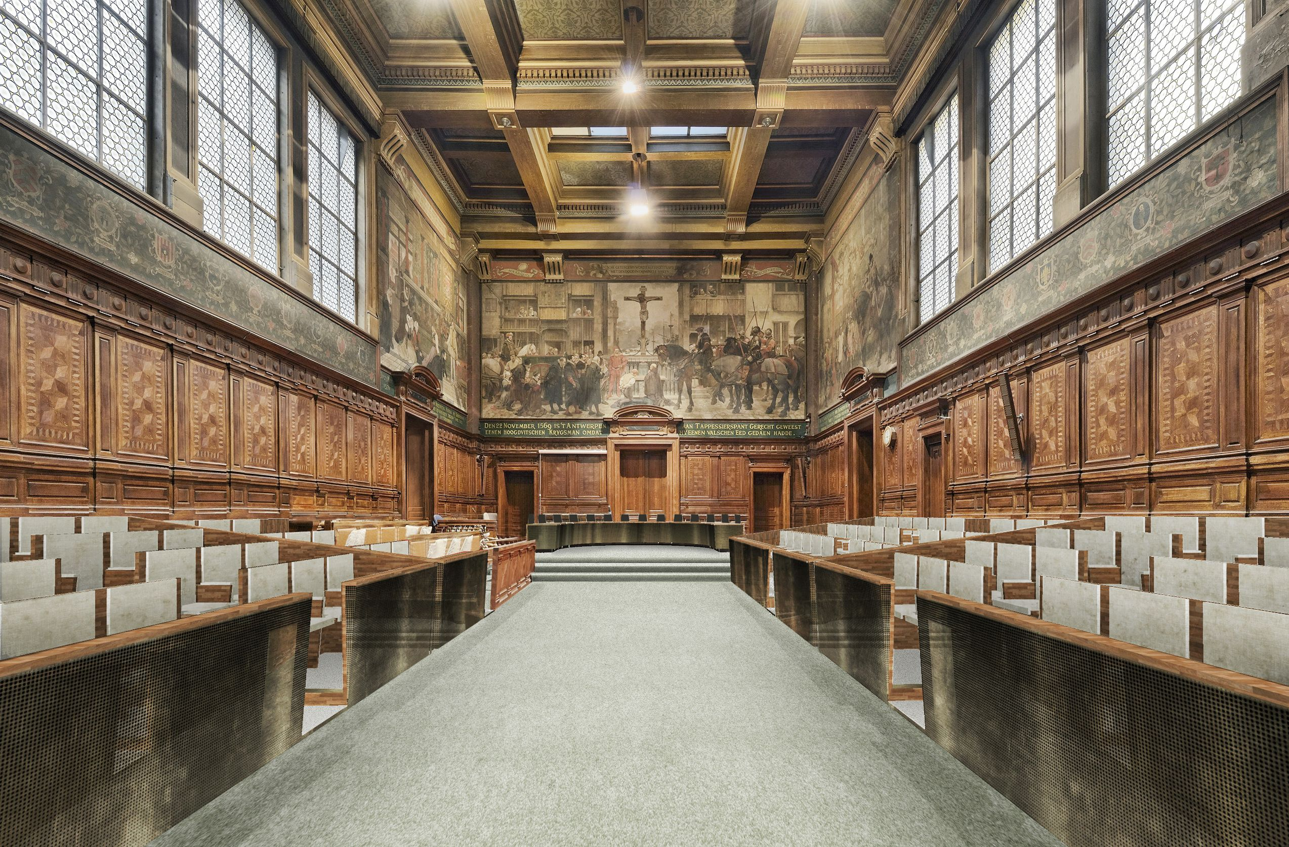 Marge Architecten Hall Of Assize Court Old Courthouse Antwerp By Marge New