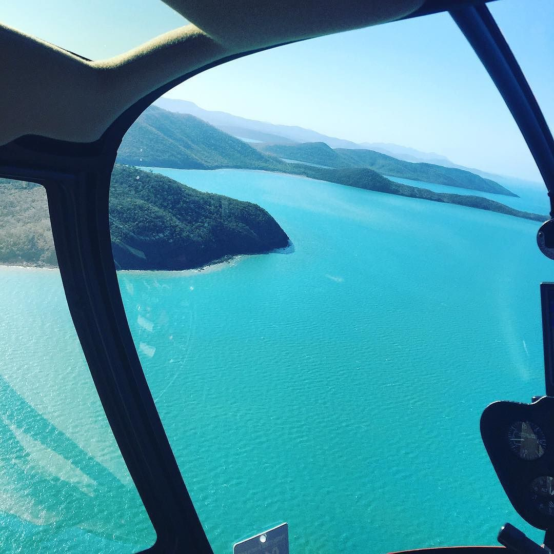 View from the heli  #helicopter #amazing #view #travel #explore #whitsundays #australia #beautiful #mountains #sea #paradise #wanderlust #mytinyatlas #vscocam #vsco #photooftheday #travelgram #greatbarrierreef by jessbelts http://ift.tt/1UokkV2