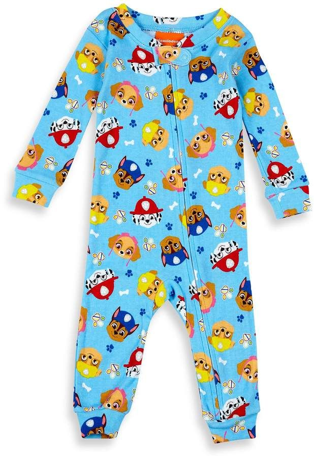 c559343ff Nickelodeon Paw Patrol Pups Footless Pajama in Blue  zips ankle ...