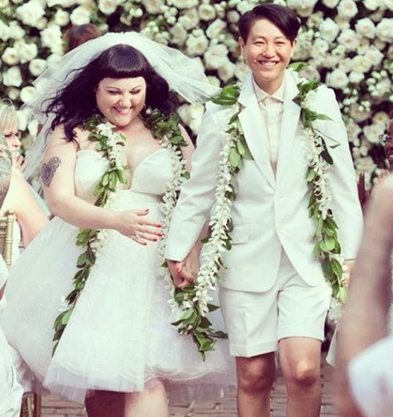 Craziest Wedding Dresses Ever Worn: Beth Ditto Her Partner Rocked Out Their Wedding Style