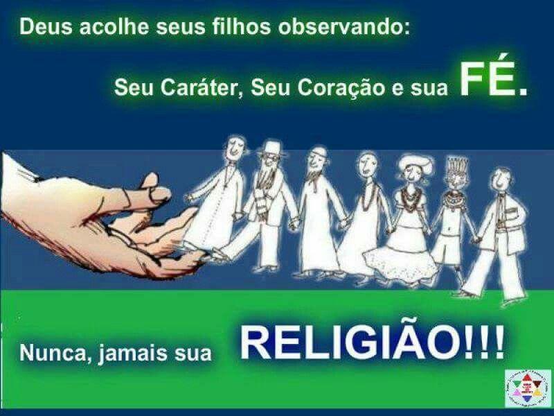 Somos tds iguais e Deus é um, apenas!