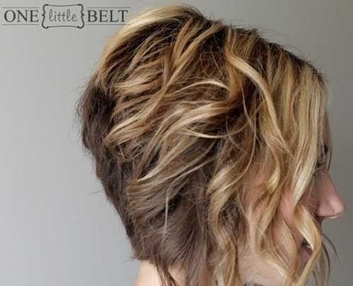 Graduated Curly Bob Hairstyles Side View Short Curly Hair