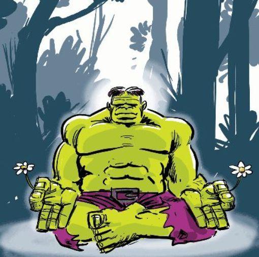 Meditação | Meditation ~ ~ ~ #Hulk #Meditando #Meditating #Paz #Peace