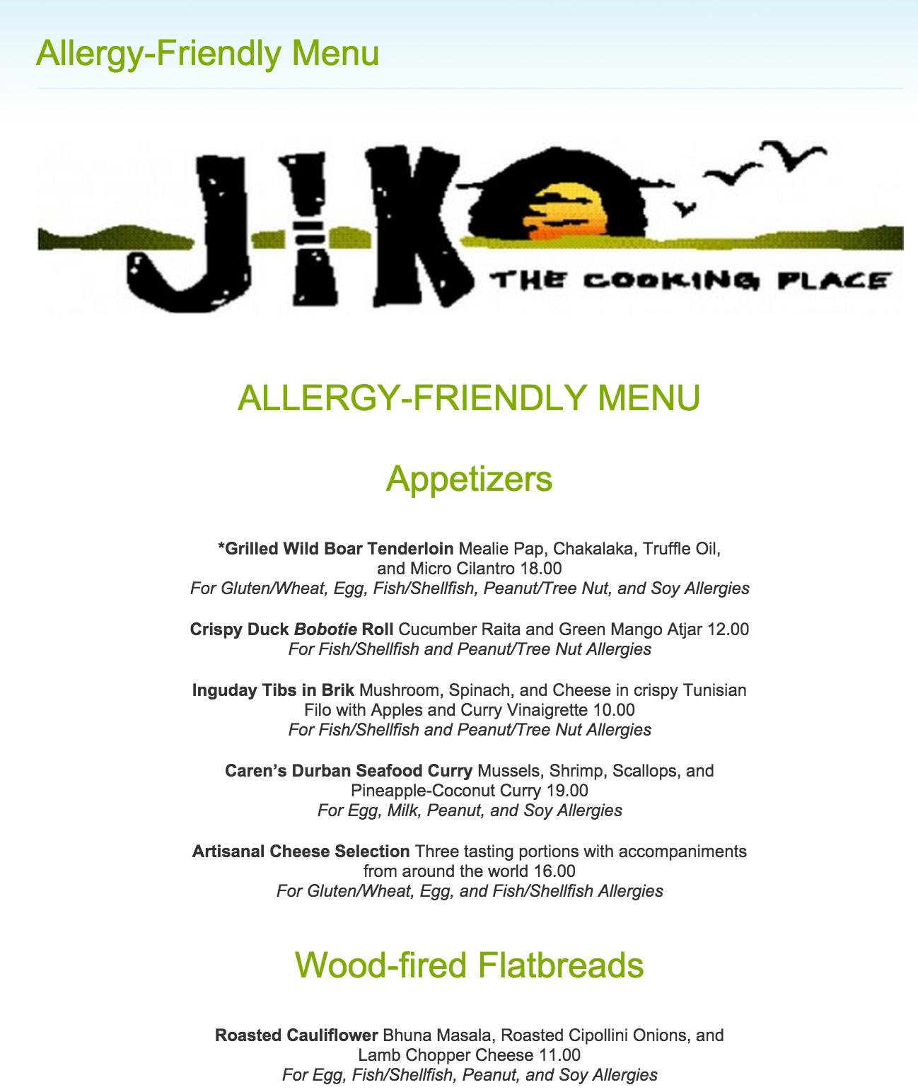 allergy friendly menu disney world restaurants and dining