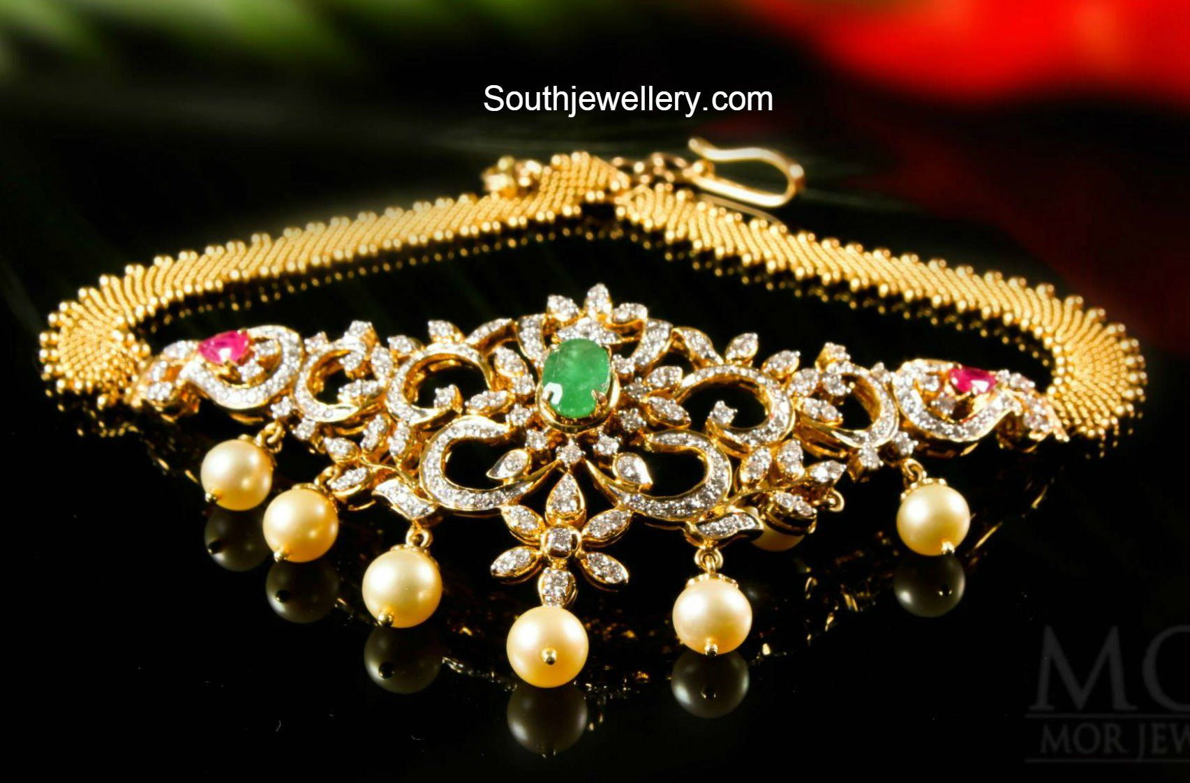 Latest gold necklace designs in grams pachi necklace latest jewellery - Diamond Choker Choker Cum Armlet 2 In 1 Choker And Armlet Bajubandh Find This Pin And More On Jewelry