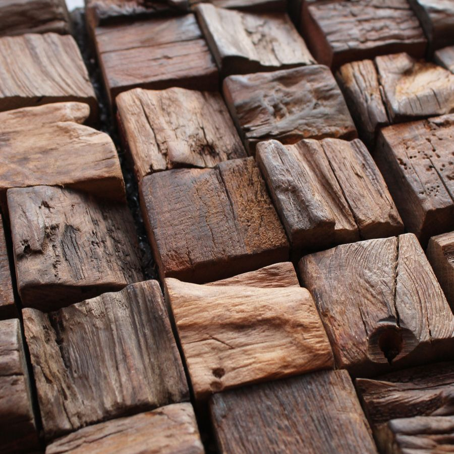 Mosaicwoodwalltilesdancientoldboatwoodenmosaicsartsolid