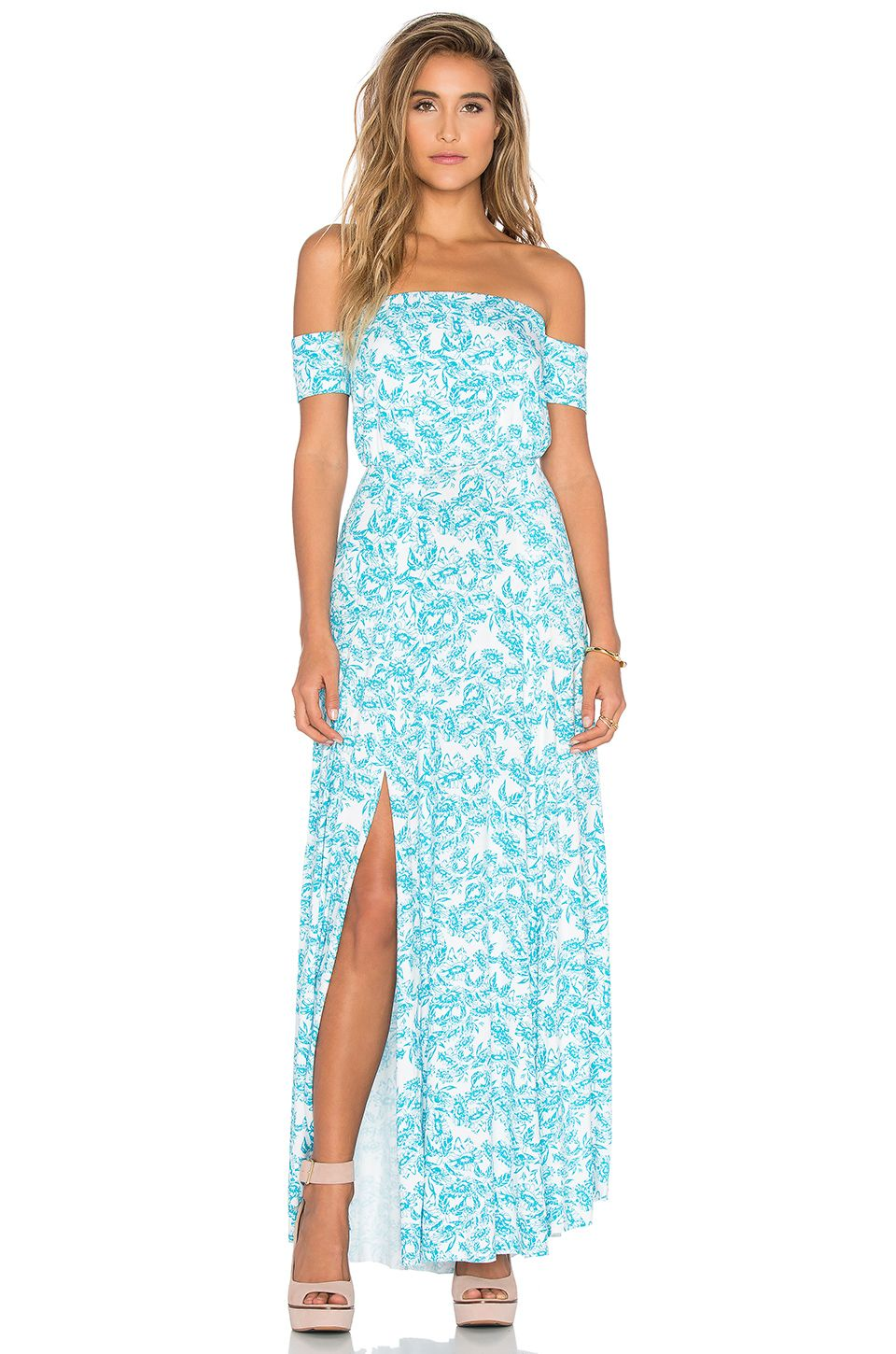 Clayton Margaret Dress in Turquoise Sunflower | REVOLVE | Outfits ...