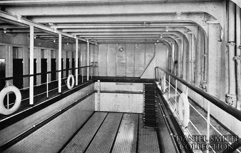 Swimming pool titanic ships liners inside and out - Did the titanic have swimming pools ...