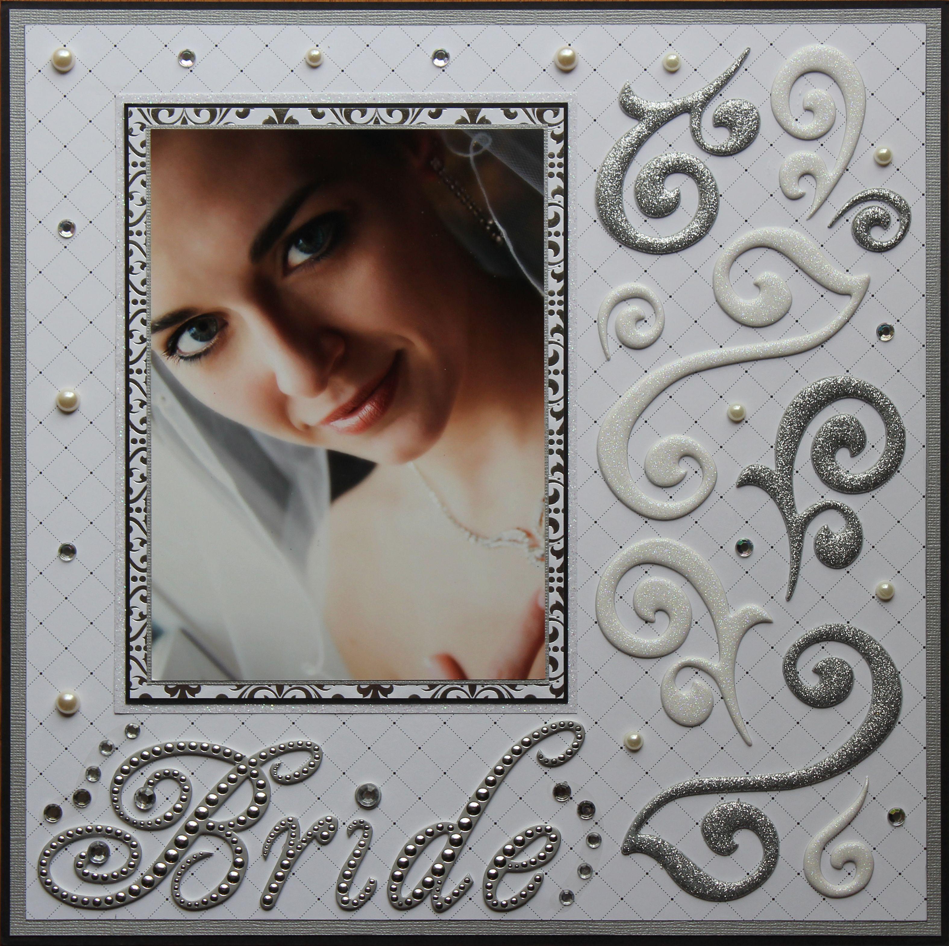 Scrapbook ideas without photos - Bride An Elegantly Stunning Layout Wedding Scrapbooking