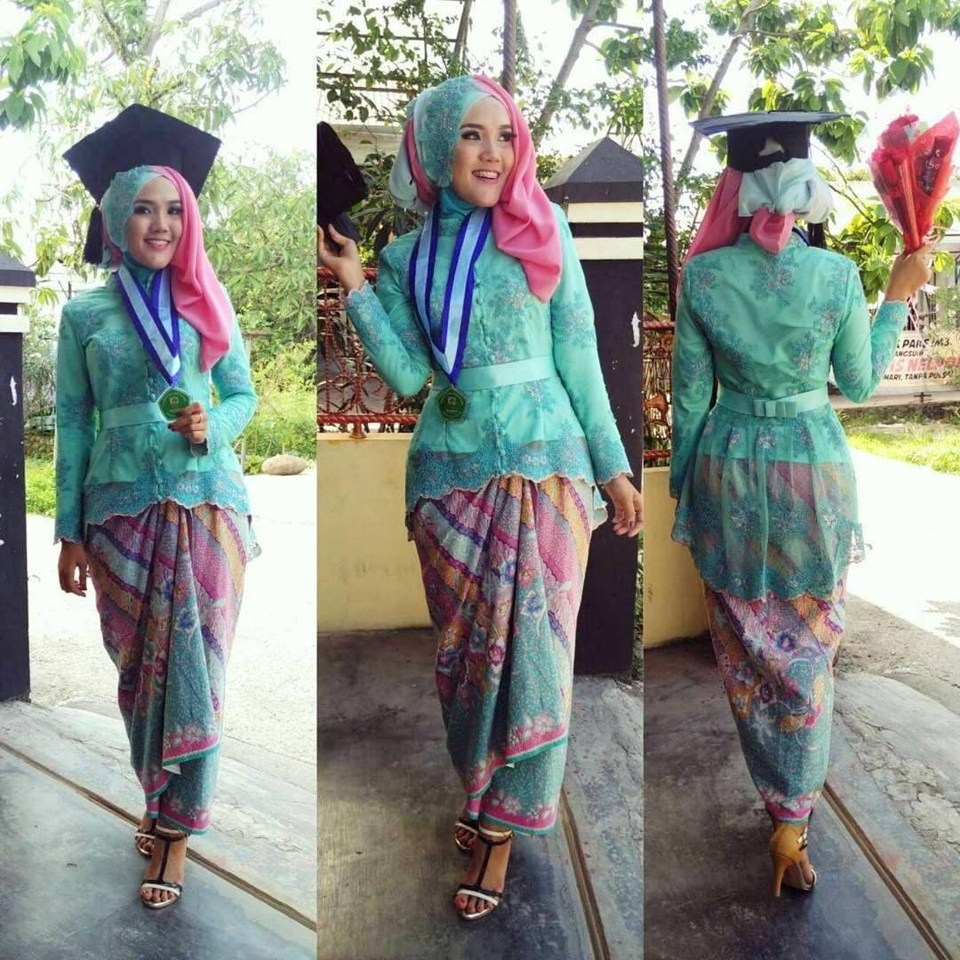 Model Baju Kebaya Modern Kombinasi Hijab untuk Wisuda 9