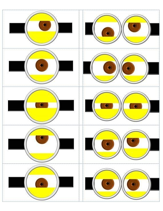 photo regarding Minion Template Printable identified as Minion Eyes Printable despicable me templates Despicable