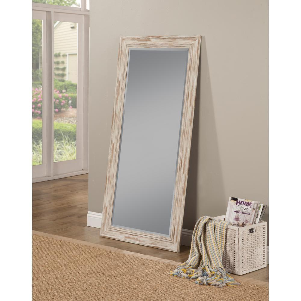 Farmhouse Antique White Wash Leaner Floor Mirror Farmhouse Mirrors Floor Mirror Full Length Floor Mirror