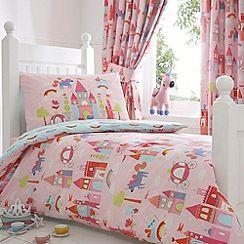 bluezoo - kids 'castle and unicorns' toddler bedding set | single