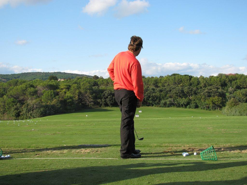 Golf. Practicing improved golf. golf handicap calculator