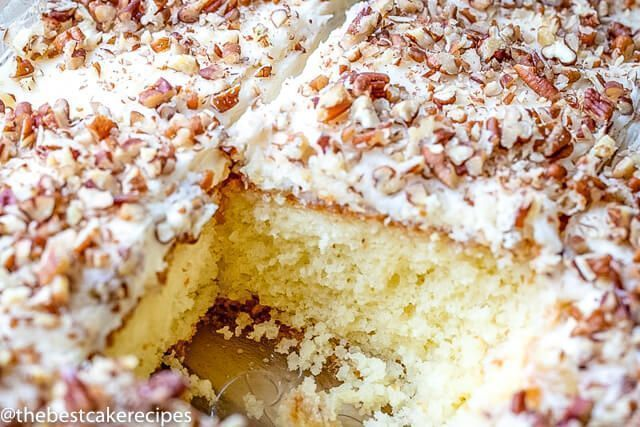 Love pineapples and pecans? Then you might like this Elvis Presley Cake! It starts with a basic white cake mix then add pineapple frosting and pecans. #elvispresleycakerecipe Love pineapples and pecans? Then you might like this Elvis Presley Cake! It starts with a basic white cake mix then add pineapple frosting and pecans. #elvispresleycakerecipe Love pineapples and pecans? Then you might like this Elvis Presley Cake! It starts with a basic white cake mix then add pineapple frosting and pecans. #elvispresleycakerecipe