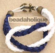 anchor paracord bracelet | How to Make a Knotted Round Braid Anchor Bracelet... paracode bracelet charms....YES