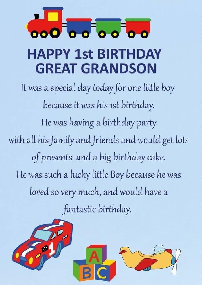 Image Result For Happy Birthday 1st Grandson