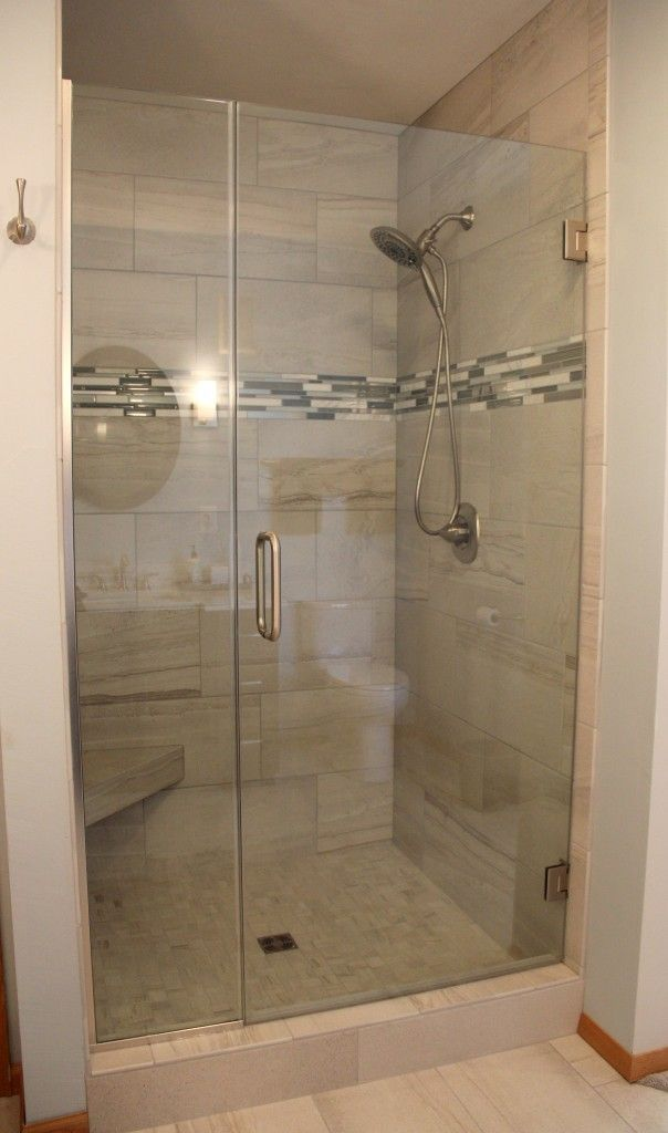 Small Shower Remodel Walk In Glass Doors