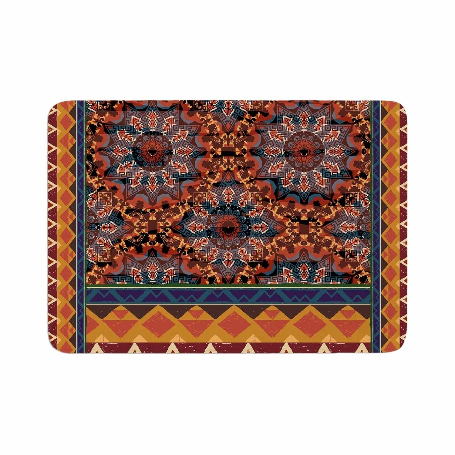 Victoria Krupp Earth Shine Memory Foam Bath Mat Orange Kess