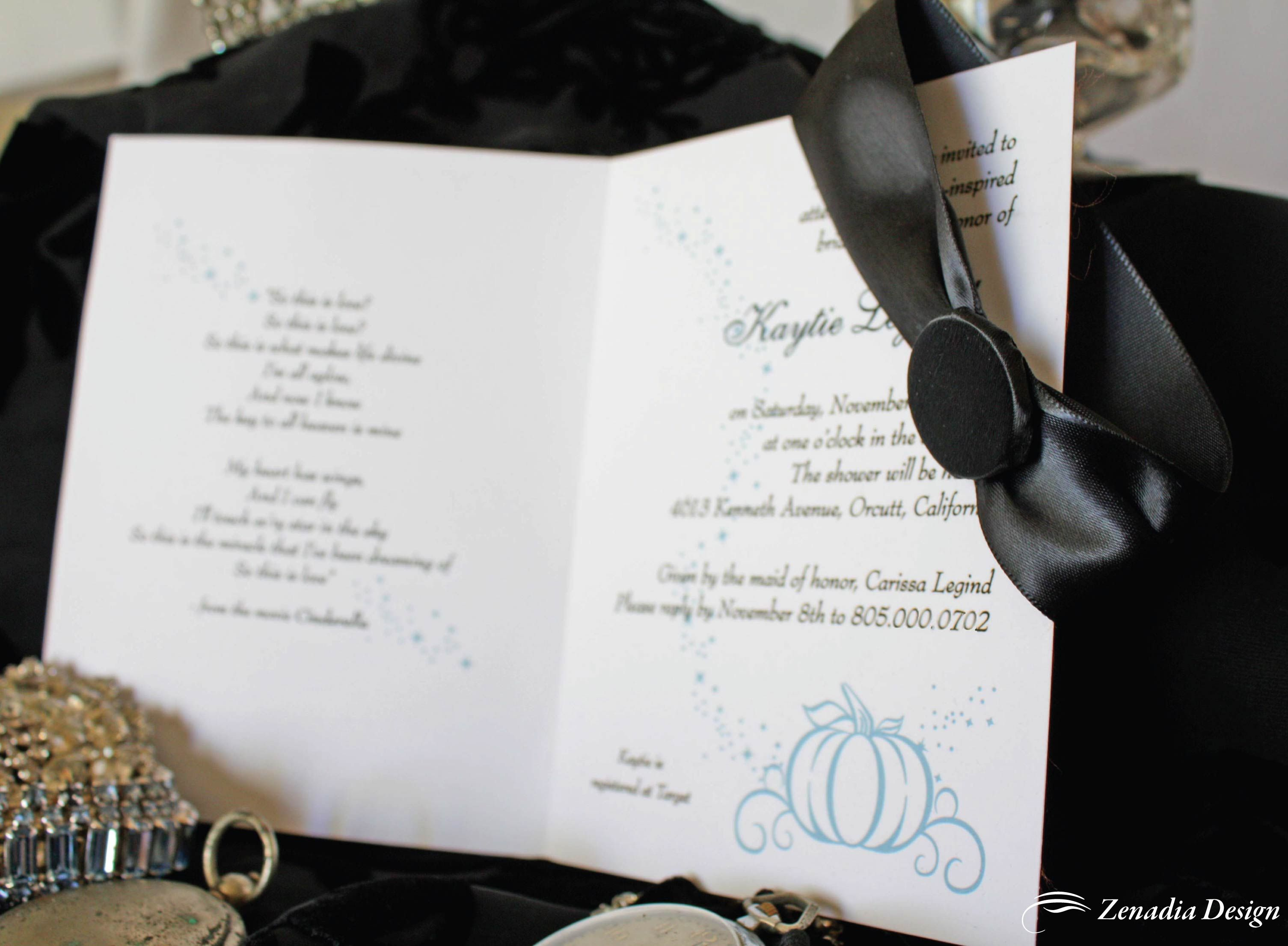 A Cinderella-Inspired Bridal Shower Invitation | Themed bridal ...