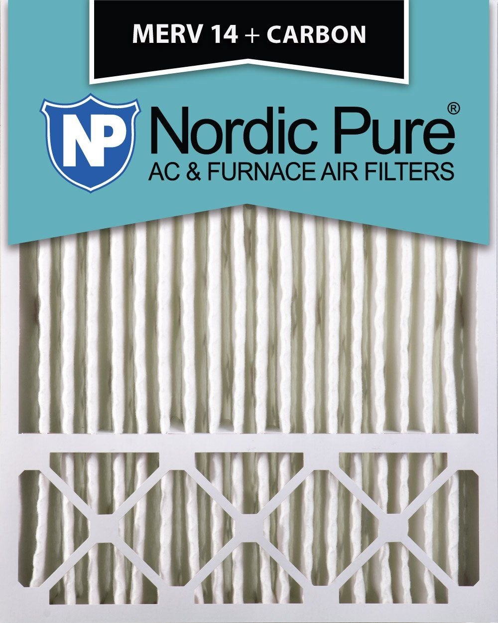 Nordic Pure 20x25x5 (43/8 Actual Depth) MERV 14 Plus