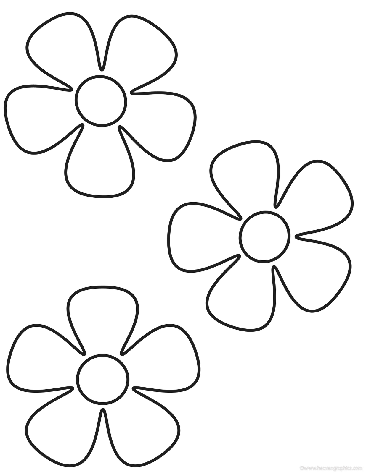 Flower Coloring Pages 1 And For Preschoolers